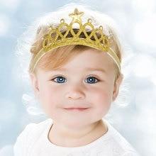 Fantaisie petites filles princesse bandeaux mignon bandeau enfants couronne bandeau or et argent bandeau cheveux accessoires paillettes