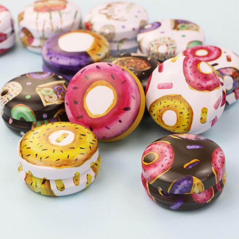 12 Uds Mini caja de lata de flores elegante DIY vela tarro bálsamo caja de lápiz labial vacía redonda M0XD