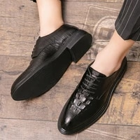 shoes loafers mens casual leather shoes brand men non slip designer office business wedding driving oxford personality fashion