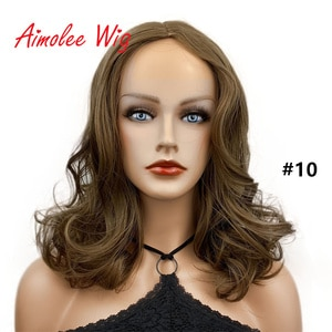 Aimolee Women's Wig Long Curly Natural Capless Natural Hair Synthetic Wigs Party Daily Use for White/Black Women