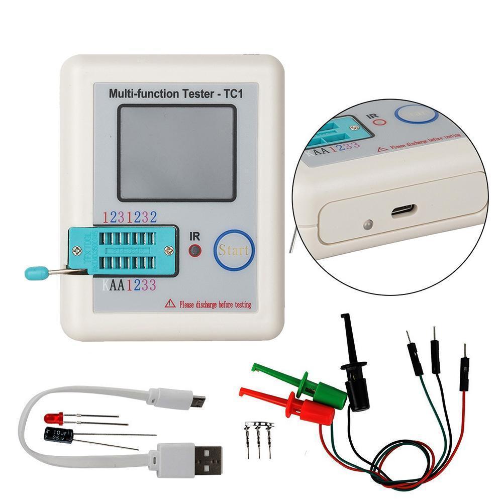 ل LCR-TC1 TC1 ملون 3.5 بوصة TFT شاشة متعددة الوظائف الخلفية تستر مكثف صمام ثلاثي المقاوم اختبار ل ديود الترانزستور