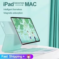 for ipad pro 11 case 2021 for ipad pro 12 9 2020 2018 air 4 10 9 magnetic slim cover with bluetooth touchpad keyboard mouse case