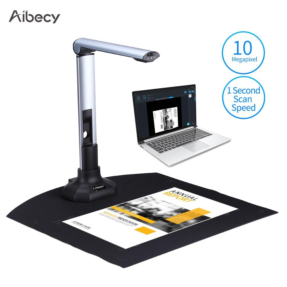 Aibecy-BK52 ماسح ضوئي محمول للكاميرا والكتب ، حجم التقاط A3 HD ، 10 ميجا بكسل ، USB 2.0 ، سرعة عالية مع ضوء LED