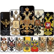 Russie armoiries Double aigle Silicone Téléphone étui pour samsung A3 A5 A6 Plus A7 A8 A9 A10s 20s 30s 40s 50s 60 70 J6