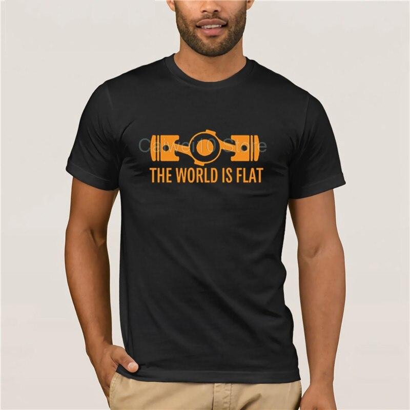 Camiseta a la moda para hombre, camiseta con motor de Bóxer plano del mundo, camiseta de manga corta personalizada con nuevo estilo, cuello redondo resistente, camisetas de algodón 3d