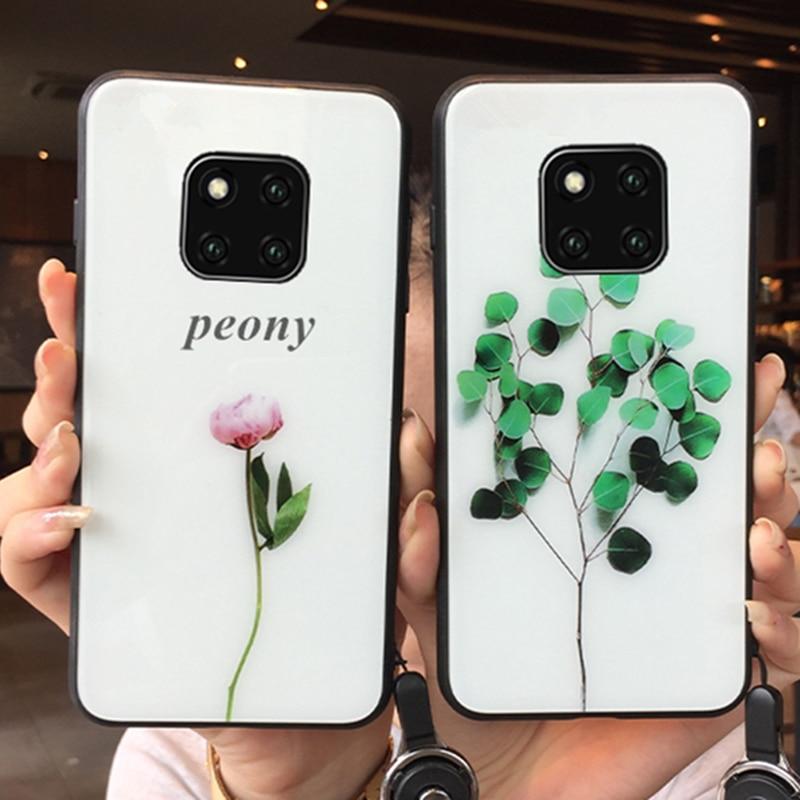 Funda para Xiaomi Redmi Note 9 Pro Max Redmi note 9s 9 8 Pro k30 Pro, funda de silicona dura con flores y peonías, funda de silicona