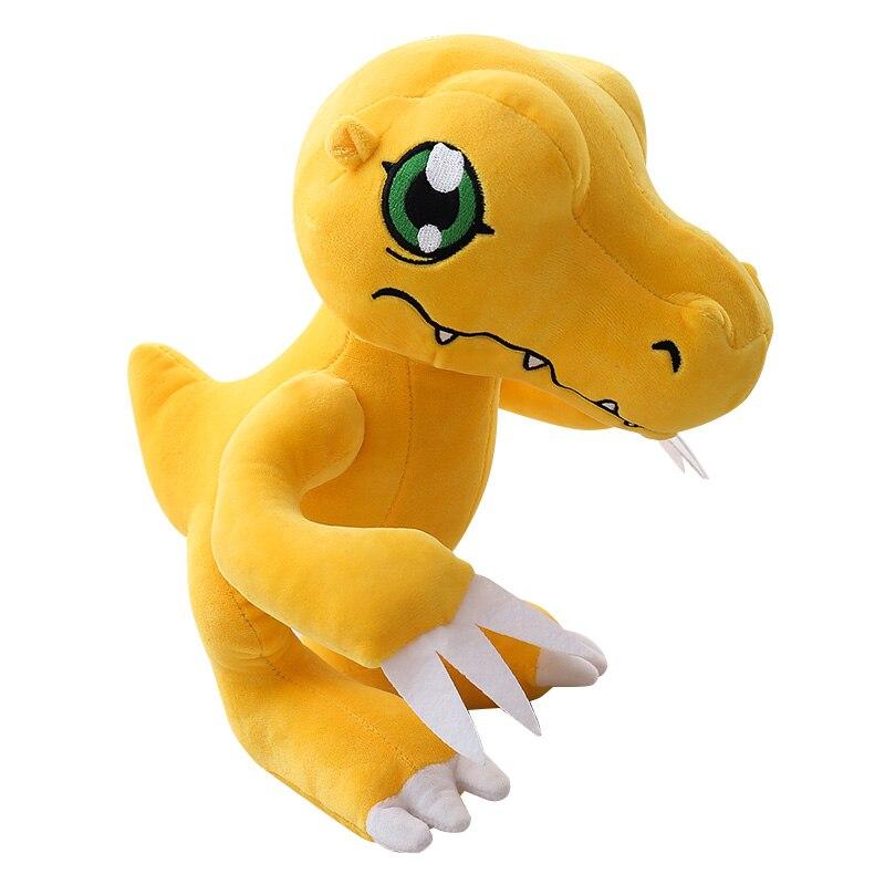 Anime Figure Agumon Plush Doll Yellow Dinosaur Stuffed Animals Kids Toys 12
