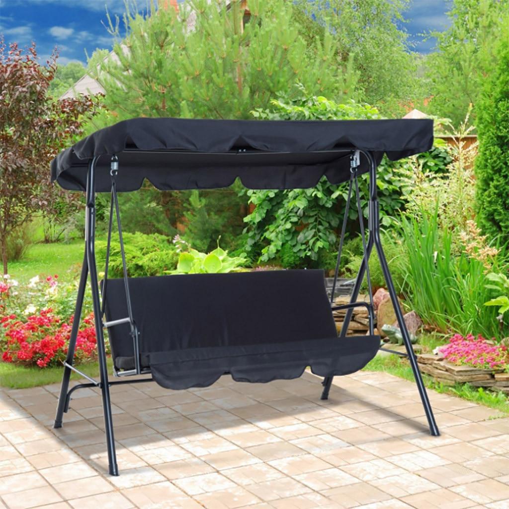 2 unids/set sillas de jardín Columpio de Patio cubierta de asiento impermeable a prueba de sol al aire libre decoración Protector dosel Sun Shade sólido Universal # Y20