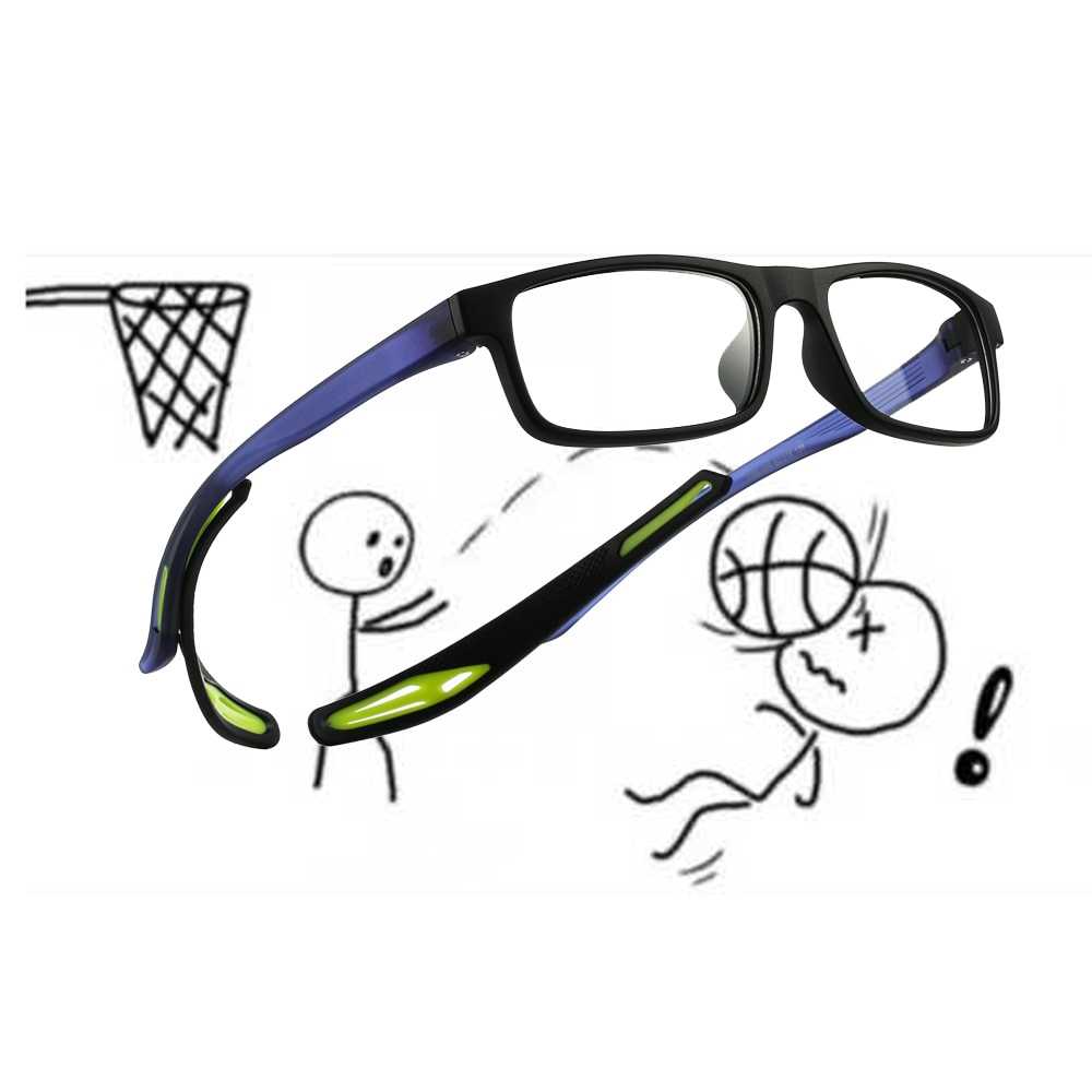 tr90 optical eyeglasses glasses frame  men Sports basketball Football transparent prescription myopia eye eyewear