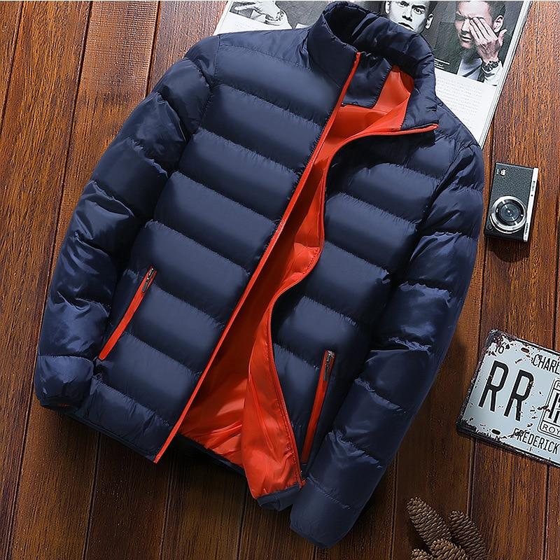 2021 Men Winter Thick Velvet Windproof Down Coat High Quality Male Waterproof Jacket
