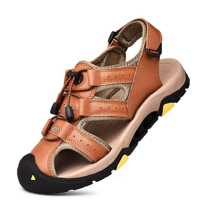 Hombre sandalias De verano De cuero De 2021 no-slip Trekking sandalias escalada...