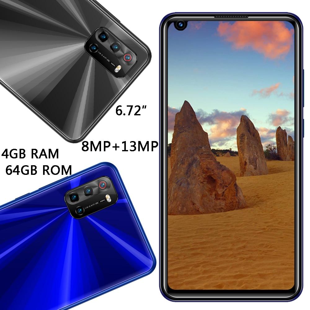كاميرا أمامية/خلفية Z5 4G RAM + 64G ROM معرف الوجه رباعية النواة 8MP + 13MP الهواتف الذكية العالمية 6.72