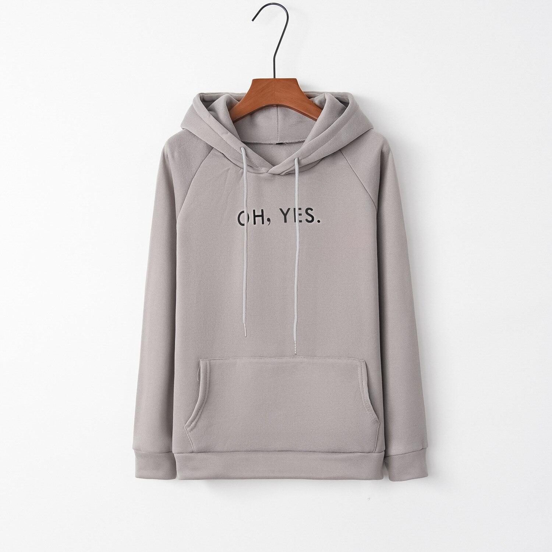 Oh yes fashion 2020 New Design Hot Sale Hoodies Sweatshirts Women Casual Kawaii Harajuku Sweat Girls European Tops Korean