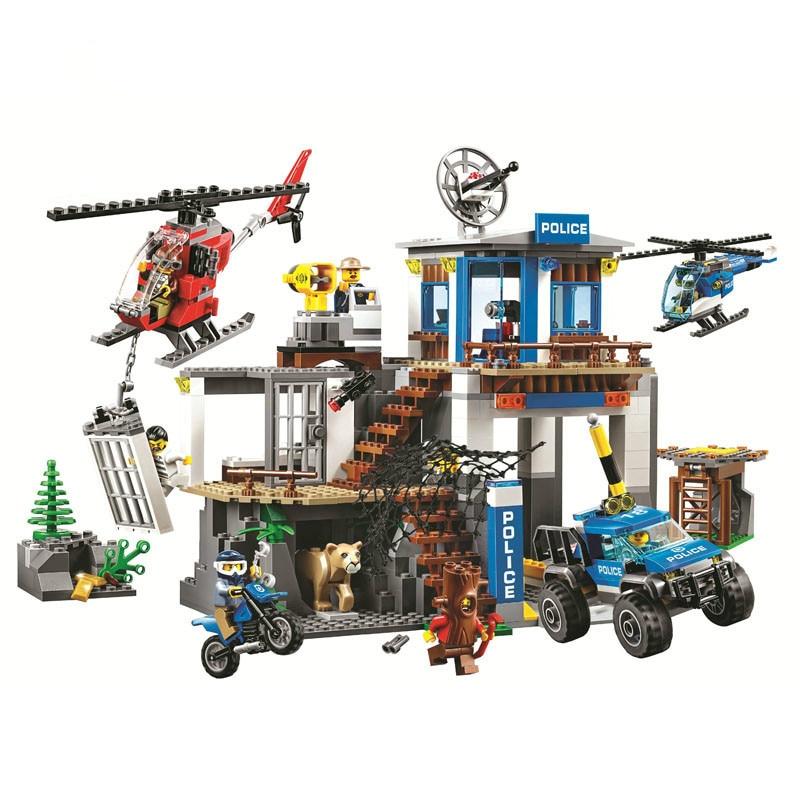 705 Uds 60174 lepining series de la Ciudad de montaña de la sede de la policía bloques de construcción de juguete educativo de Diy para el regalo de los niños 10865
