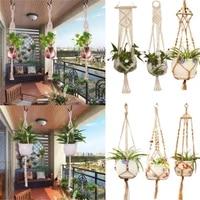 hot sales 100 handmade macrame plant hanger flower pot hanger for wall decoration countyard garden