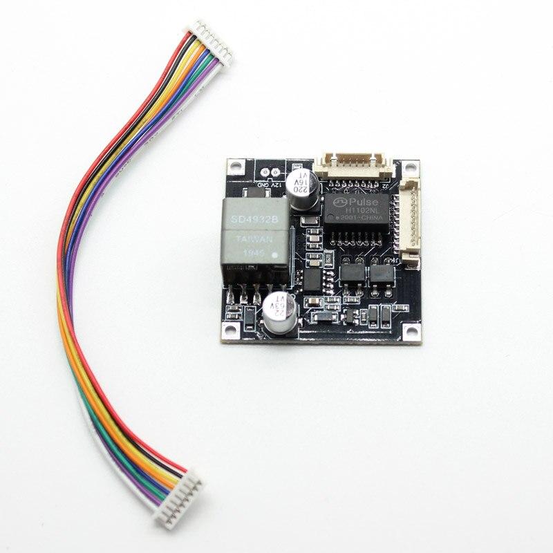 POE Modul board für Sicherheit CCTV Netzwerk IP Kamera H.265 8Pin Power Over Ethernet 12V ausgang IEEE 802,3 af/at konform