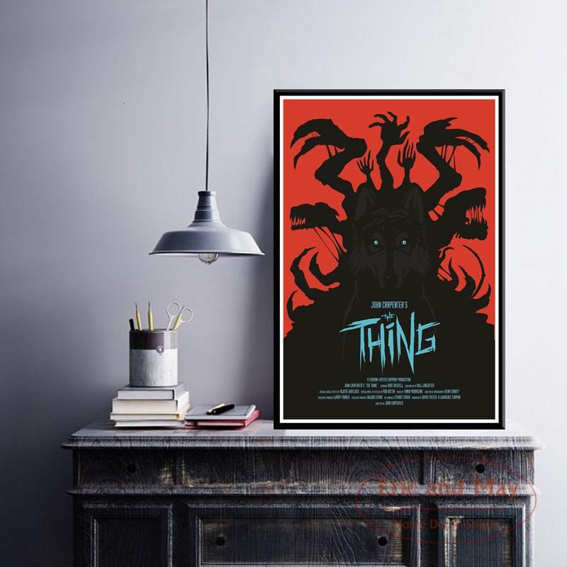 Póster e impresiones John Carpenter The Thing, pintura en lienzo, cuadros de pared para sala de estar, película Vintage, decoración decorativa para el hogar