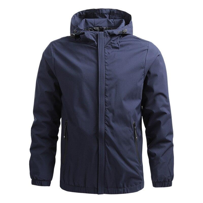 Осенняя мужская Тонкая Повседневная куртка, бейсбольная форма, мужская куртка с капюшоном, мужская куртка