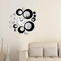 2021 nouvelle mode acrylique bricolage horloge murale horloges moderne salon decor a la maison miroir autocollant meubles autocollants