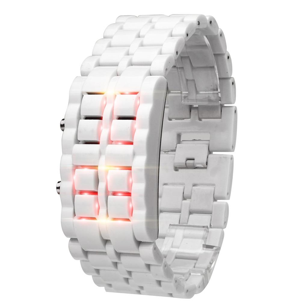 Reloj Digital nuevo, pulsera de Metal de Iron Samurai, reloj de LAVA, relojes digitales LED, reloj de Hora para hombres y mujeres, reloj Digital