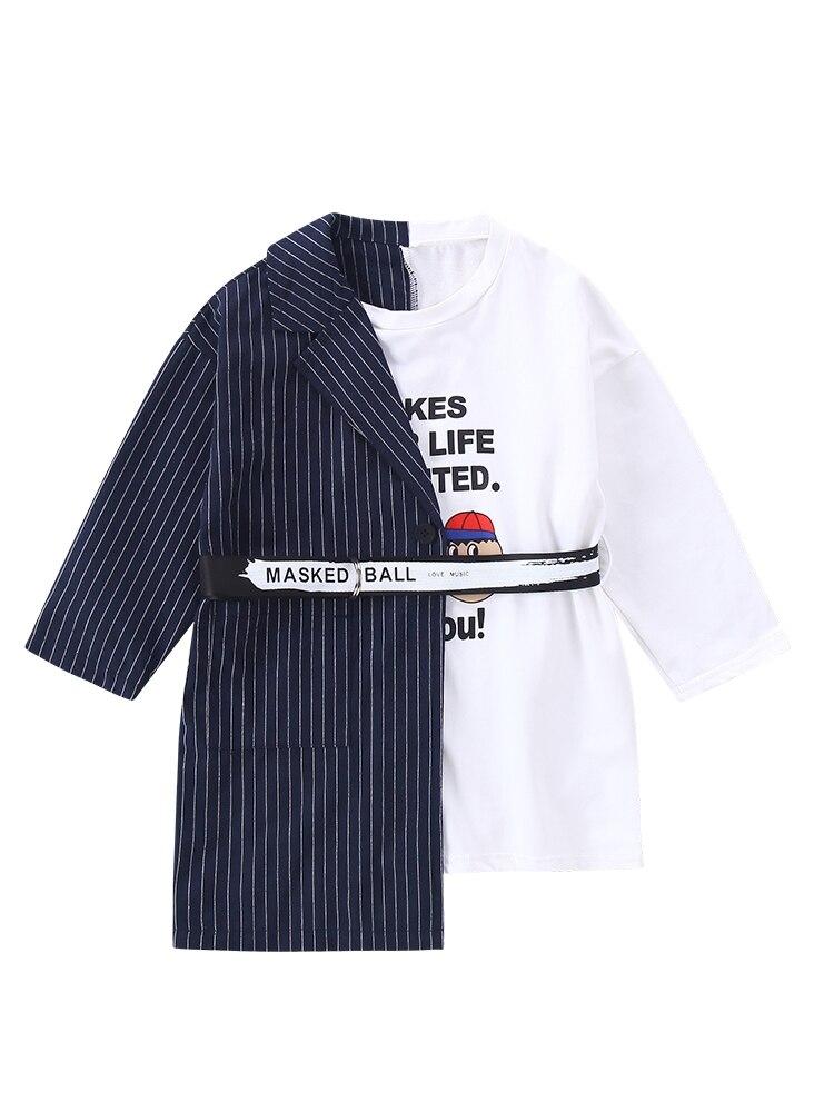 Crianças roupas da criança menina blazers vestidos crianças meninas t camisa vestido meninas topos t camisa de manga longa crianças vestidos para meninas