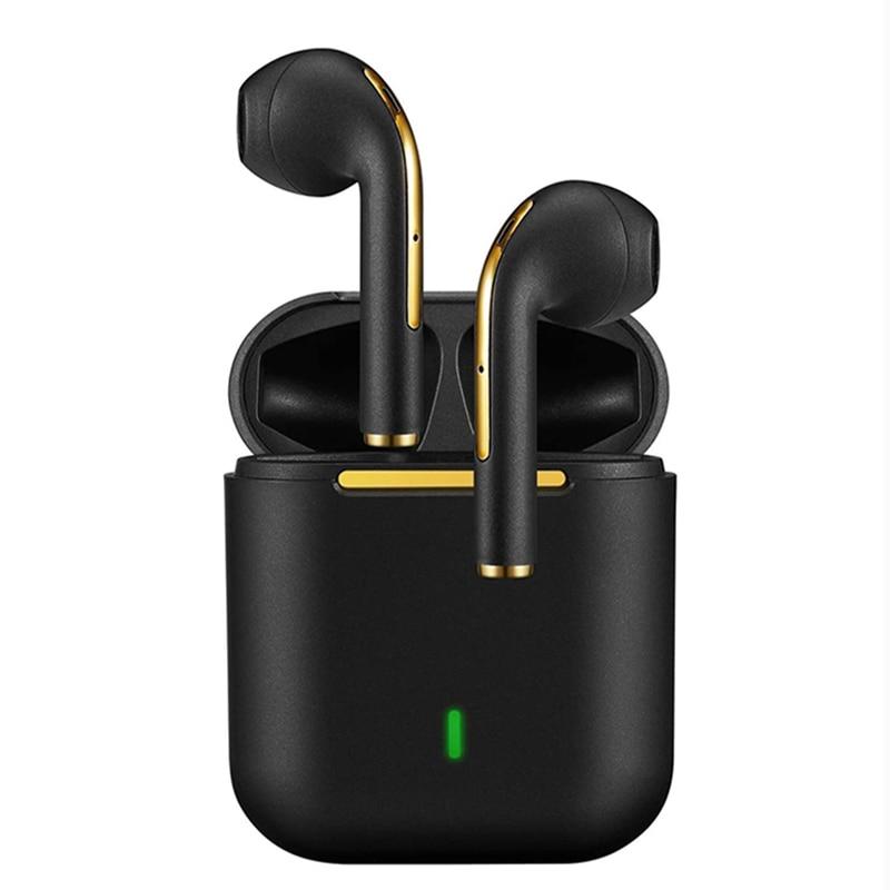 جديد J18 TWS سماعات بلوتوث ستيريو سماعات لاسلكية حقيقية في الأذن سماعات أذن غير رسمية براعم الأذن للهاتف المحمول