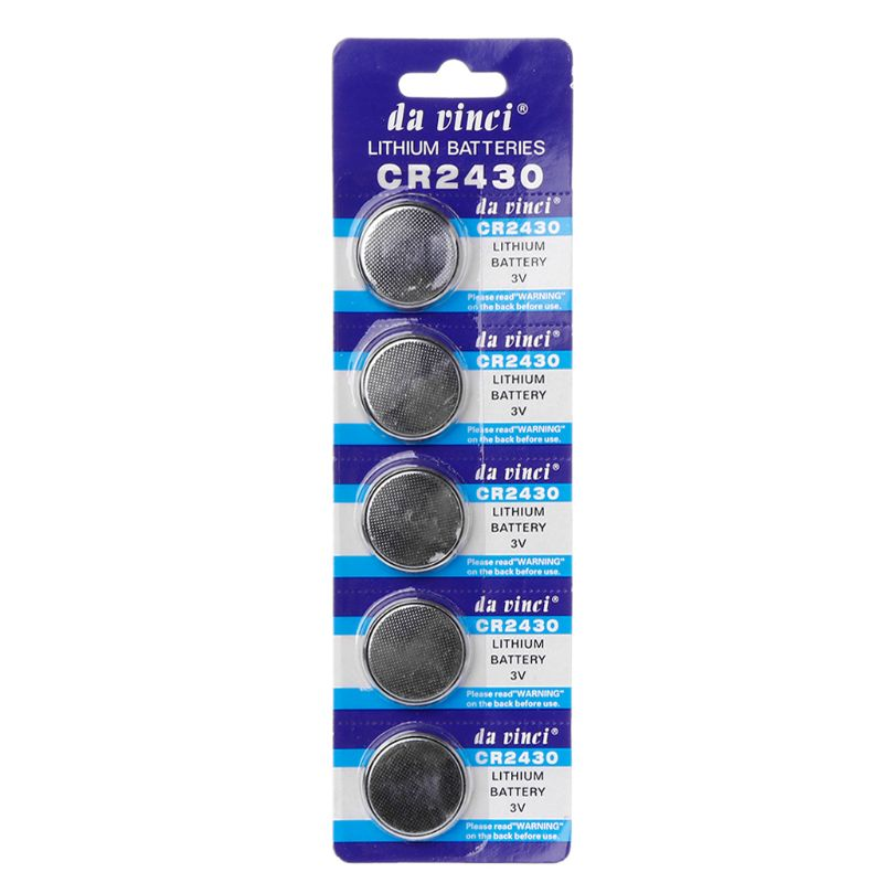 5PCS Button Battery CR2430 3V Electronic Lithium Coin Cell Batteries DL2430 BR2430 ECR2430 KL2430 EE6229 Watch Toy HX6A
