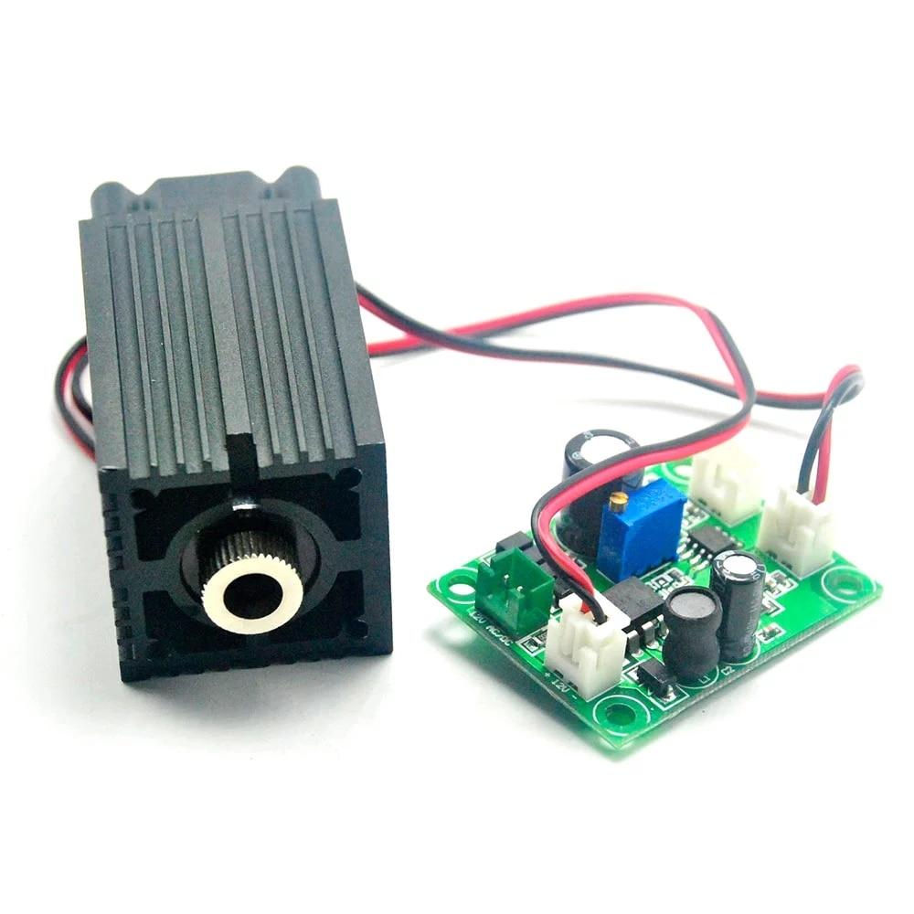 Фокусируемый 450 нм 400 мВт синий лазер точка точка модуль 33% 2A50 мм