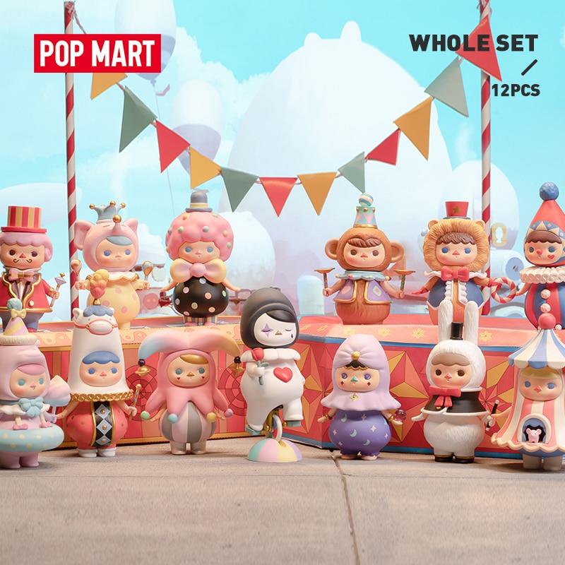 POP MART Pucky circo para caja entera juguetes figura caja ciega Regalo de Cumpleaños envío gratis
