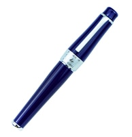Limited Edition Dark Blue Duke 2009 Fountain Pen Memory Charlie-Chaplin Big Size Unique Style M/Bent Nib Heavy Business Ink Pen