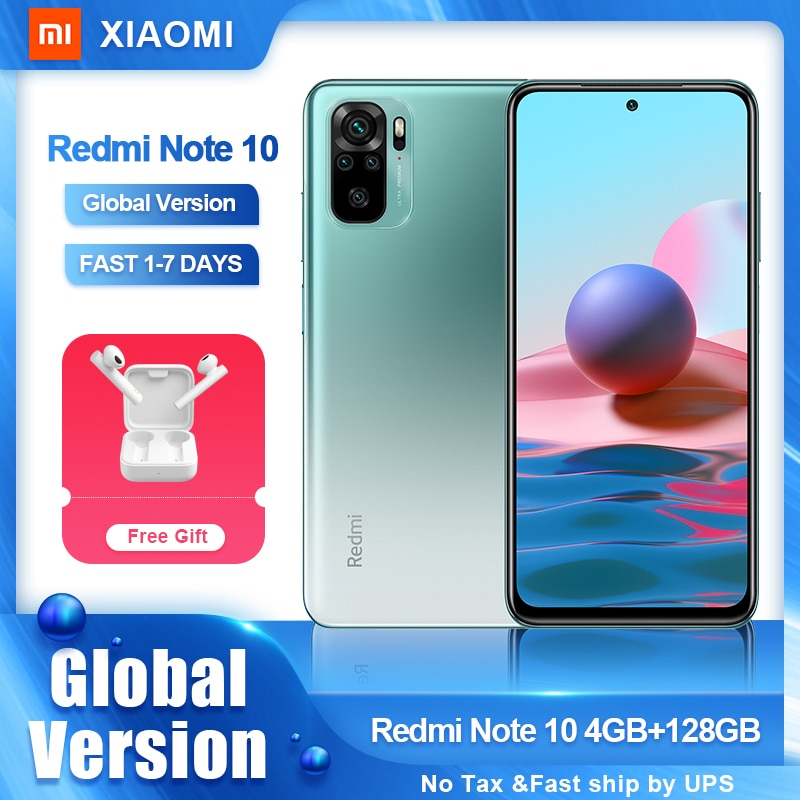 Global Version Xiaomi Redmi Note 10 Smartphone Snapdragon 678 AMOLED Display 48MP Quad Camera 5000mAh 33W Fast Charging