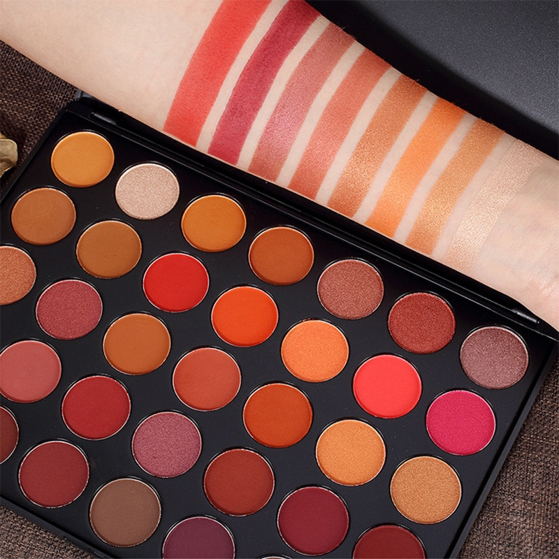 35 colores sombra de ojos impermeable sombra de ojos placa perla mate maquillaje color ojo maquillaje duradero maquillaje natural belleza