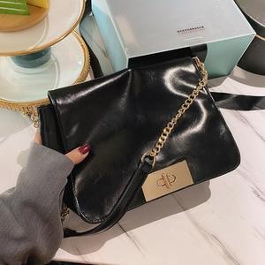 Soft PU Leather Women Shoulder Bag Solid Color Chain Strap Ladies Purses And Handbags Sac Femme Fashion Small Baguette Bag