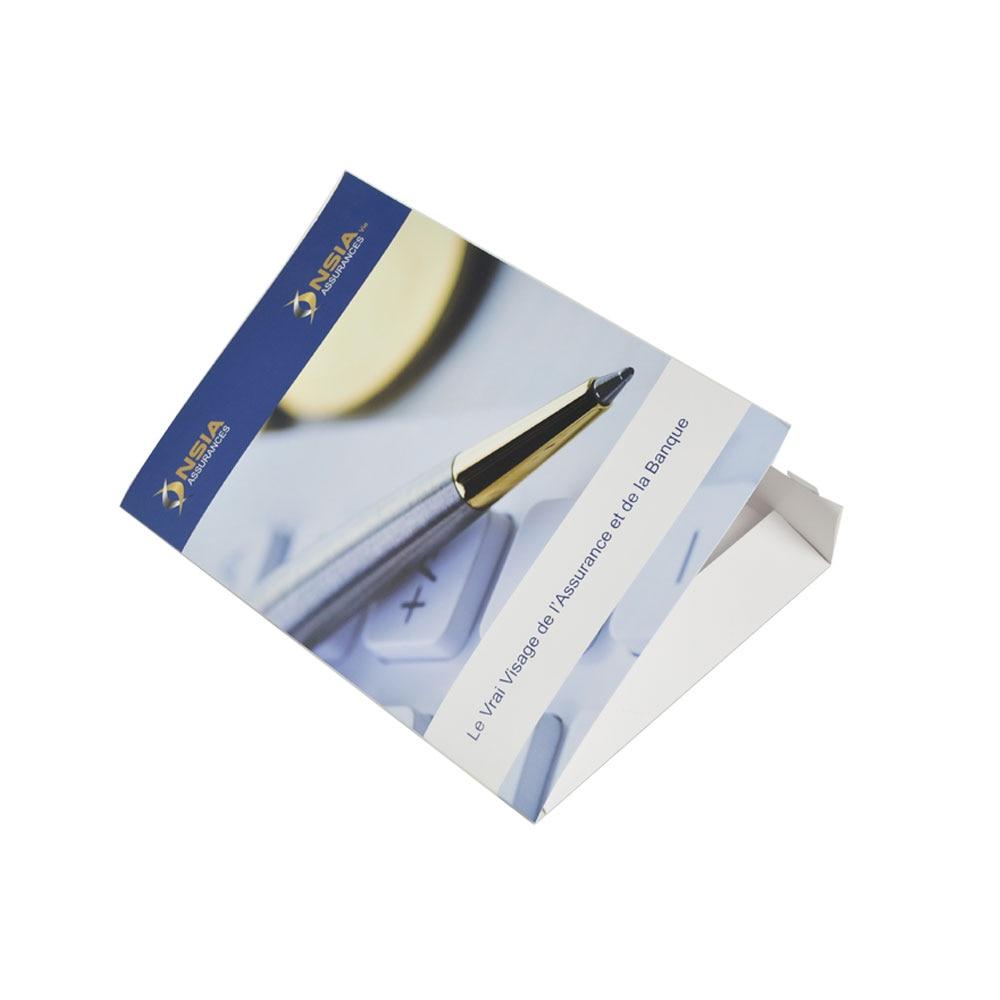 Custom High Quality Booklet Folded Fancy Brochure Printing Leaflet