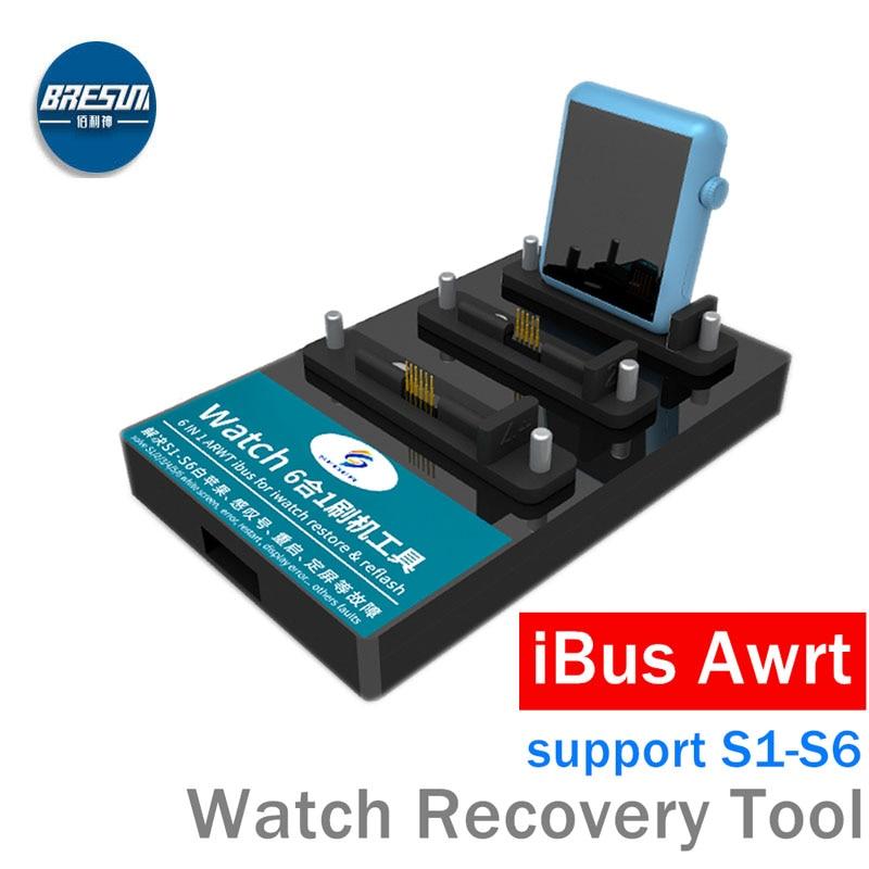 AWRT IBUS لساعة أبل S1 ، S2 ، S3 ، S4 ، S5 ، S6 restor أداة لحل تعجب علامة بيضاء أبل إعادة تشغيل شاشة تعمل باللمس الفشل