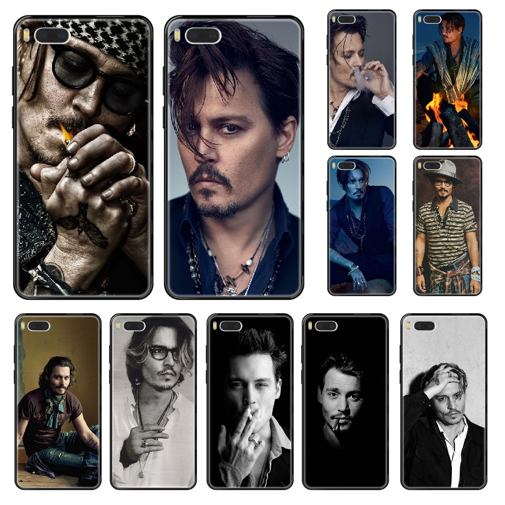 Johnny Depp Phone case For Xiaomi Redmi Mi 3 5 6 8 9 A1 2 Max3 Mix2 X SE Lite Pro black silicone bumper painting hoesjes luxury