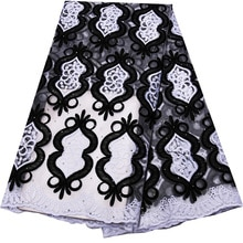 Tela de encaje africano 2019, tejido de tul de alta calidad, tejido de encaje francés, tela africana con piedras 2020