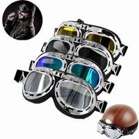 retro motorcycle goggles glasses motorbike pilot steampunk vintage atv biker scooter cruiser jet helmet cycling ski sunglasses