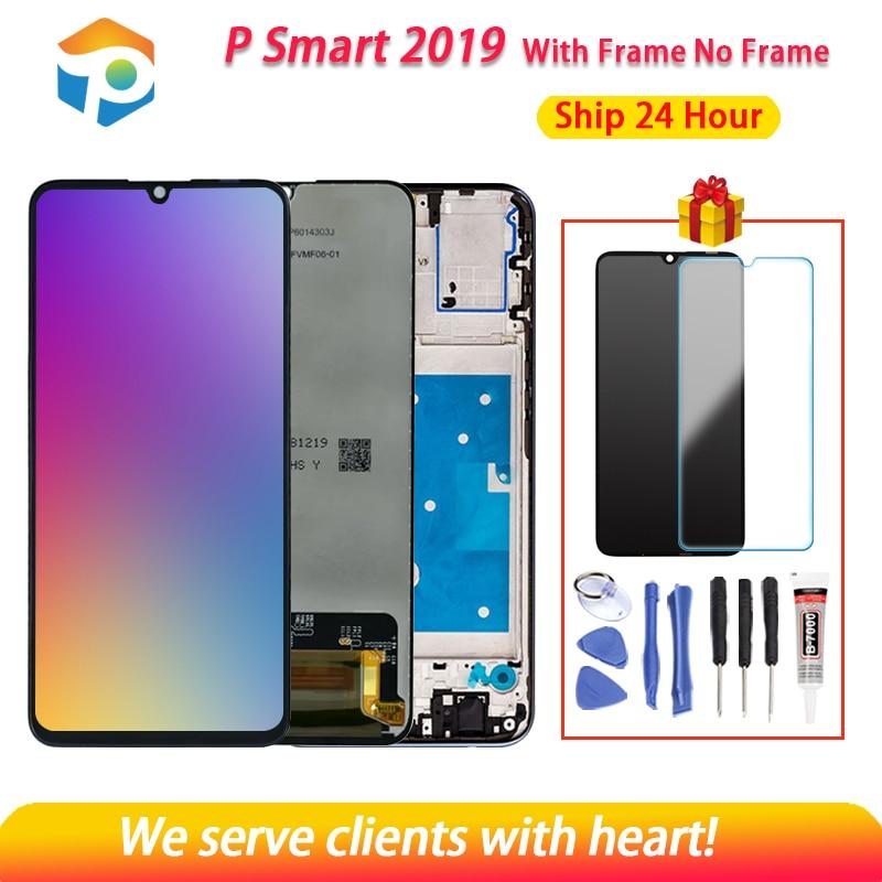 AAA جودة LCD ل هوا وي Psmart 2019 شاشة الكريستال السائل مع مجموعة المحولات الرقمية لشاشة تعمل بلمس مع الإطار ل Psmart 2019 إصلاح جزء