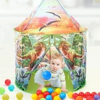 dinosaur kids play toys tent for childrens house tipi tents folding indoor kids pop up playhouse party tent brithday gift