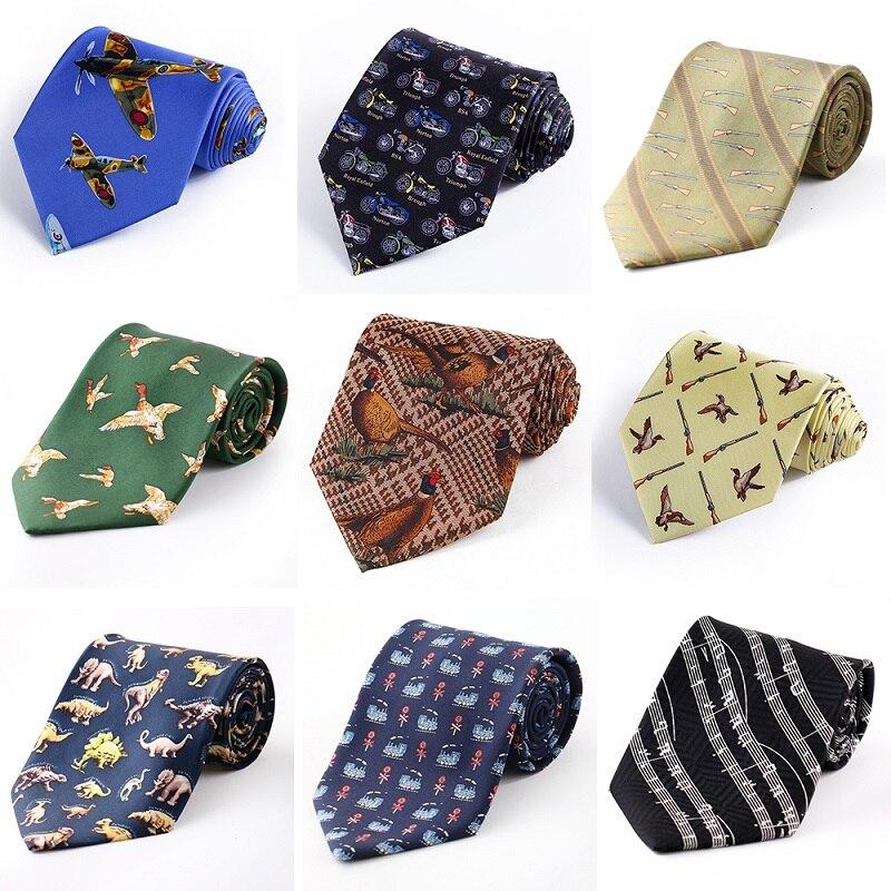 Tailor Smith Silk Bird Necktie Mens Fancy Animal Tie Printed Suit Dress Casual Party Necktie Cravat Hunting Shooting Accessory