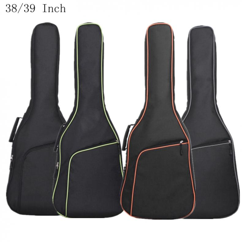 38 / 39 40/41Inch Oxford Fabric Guitar Case Colorful Edge Gig Bag Double Straps Padded 10mm Cotton Soft Waterproof Backpack Hot