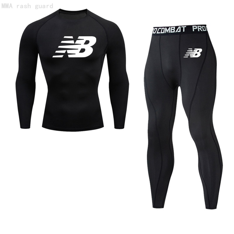 Brand Men's Clothing Winter Thermal Underwear Long Johns Compression sportswear Sweat fitness T-shir
