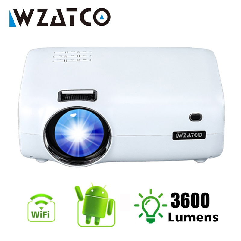 WZATCO-Proyector LED inteligente E600, dispositivo con Android 9,0, Wifi, Full HD, 1080p,...