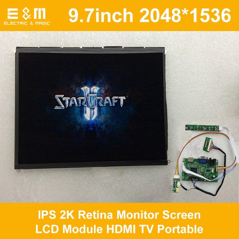 E & M 9,7 Inch 2048*1536 IPS 2K Retina Monitor Bildschirm LCD Modul HDMI TV Tragbare Raspberry pi 3 Xbox PS4 Luft Display-Player