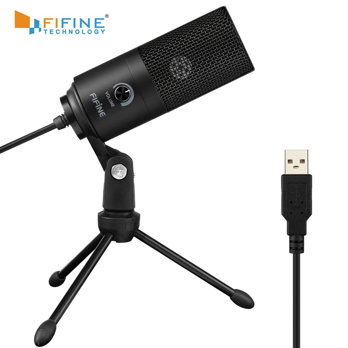 Fifine Metal USB Condenser Recording Microphone For Laptop  Windows Cardioid Studio Recording Vocals  Voice Over,YouTube-K669