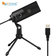 Fifine Metal USB Condenser Recording Microphone For Laptop  Windows Cardioid Studio Recording Vocals