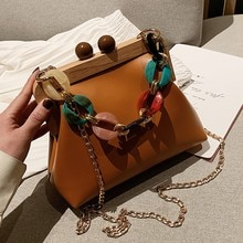 Luxury Designer Acrylic Chain Women Shoulder Crossbody Bags Fashion Handbag Evening Clutches Ladies Messenger Bag Female Purse