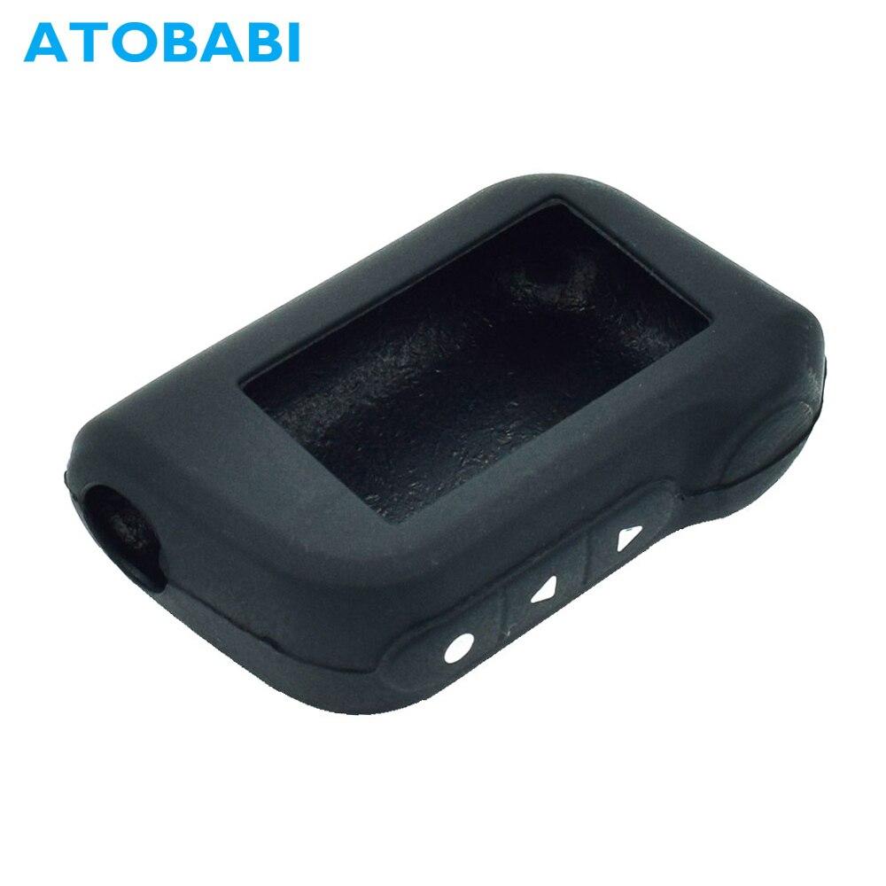 ATOBABI Silicone Key Case For StarLine A39 A96 A93 A36 A63 2-Way Car Alarm System LCD Silica Gel Rem