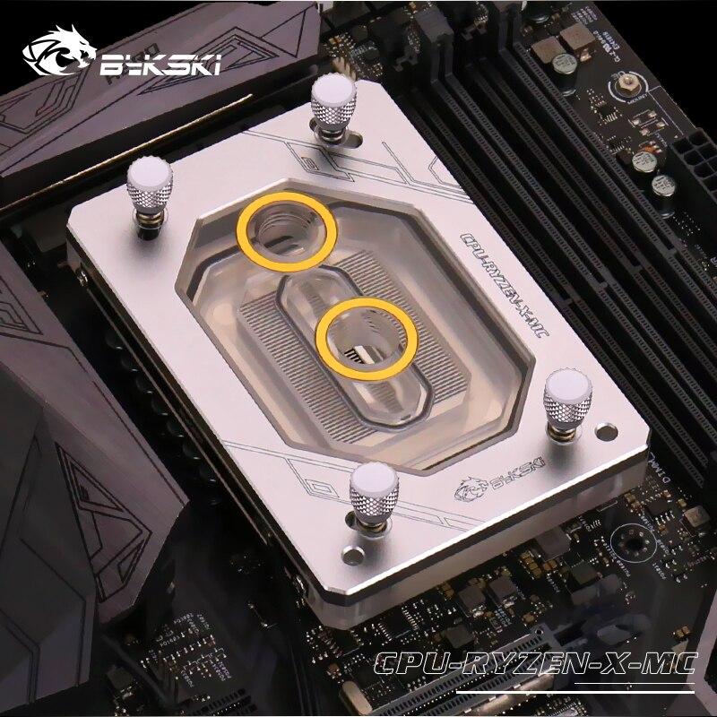 Bykski радиатор водяного охлаждения ЦП блок использовать для AMD Ryzen ThreadRipper AM2/AM3/AM4/TR4/1950X RGB светильник AURA светильник радиаторный блок